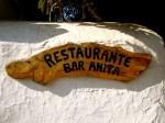 Bar Anita cartelería